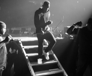 black and white, concert, and rapper image