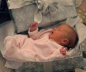 baby, christmas, and gift image