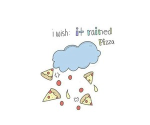 food, pizza, and rain image
