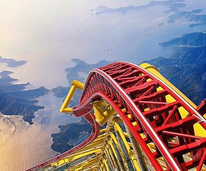 Roller Coaster, amazing, and fun image