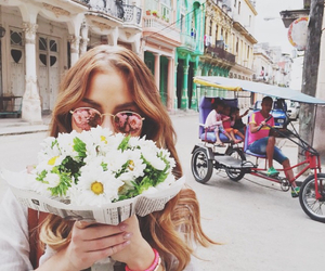 flowers, cuba, and model image