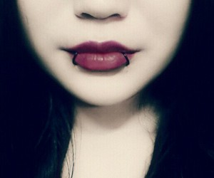 gothic, piercing, and vintage image