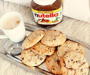Cookies, nutella, and food image