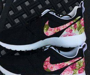 flowers, shoes, and black image