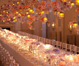 flowers, wedding, and candles image