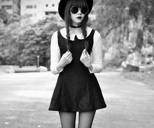 dress, grunge, and black image