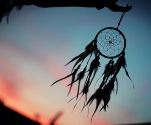 sunset, Dream, and dream catcher image