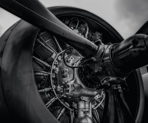 aircraft, engine, and old image