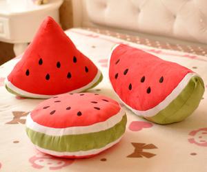 watermelon, cute, and cushion image