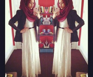 hijab, dress, and iphone image