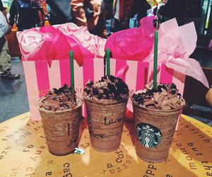starbucks, chocolate, and pink image