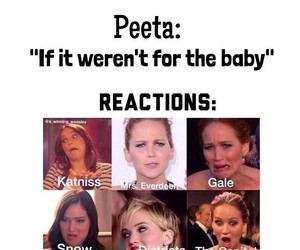 funny, the hunger games, and peeta image