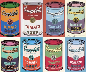 campbell, soup, and andy warhol image
