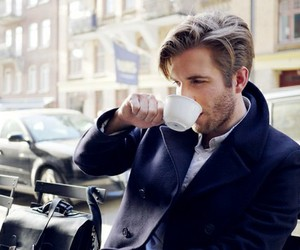 classy, coffee, and handsome image