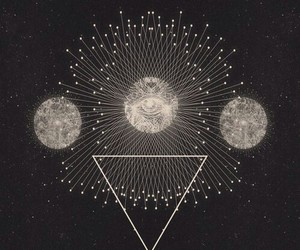moon, art, and triangle image