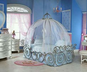 bedroom, princess, and bed image