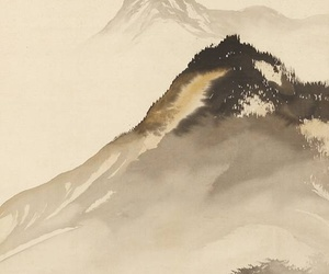 art, mountains, and painting image