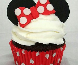 cupcake, minnie, and food image