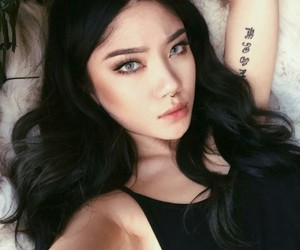 girl, tattoo, and asian image