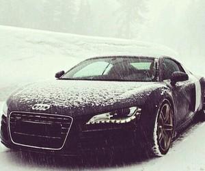 car, audi, and snow image