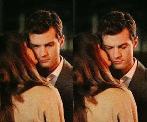 Jamie Dornan, kiss, and christian grey image