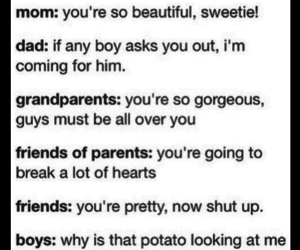boys, funny, and dad image