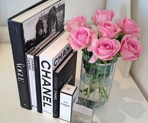 books, chanel, and girly image