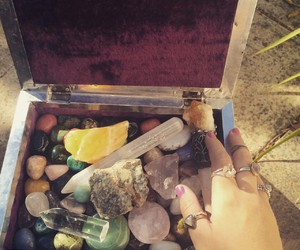 crystals, grunge, and hippie image