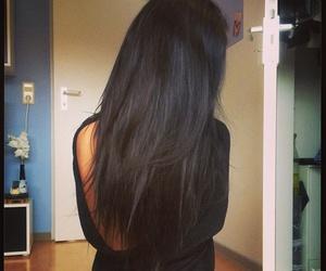 black hair, woman, and girl image