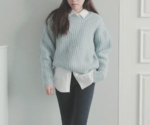 blouse, korean fashion, and pants image