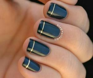 diy, nails, and navy image