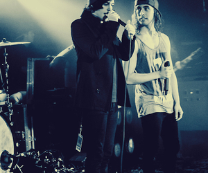 kellin quinn, vic fuentes, and sleeping with sirens image