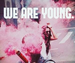 young, pink, and party image