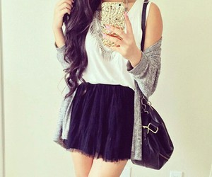 black and white, girl, and clothes image