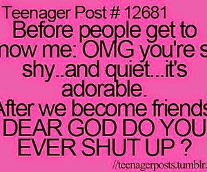 teenager post, funny, and shy image