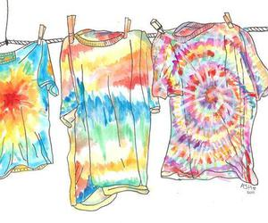 shirt, tie dye, and hippie image