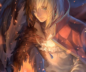 Howl, howl's moving castle, and anime image