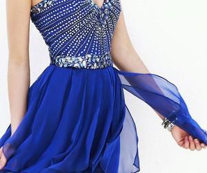 beautiful, blue, and glitter image