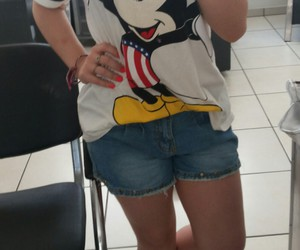crocs, jeans, and mickey image