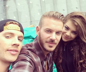 matt, m pokora, and caroline costa image