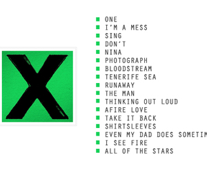 L, songs, and ed sheeran image
