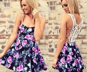 dress, floral, and summer image