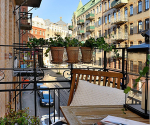 balcony, Scandinavian, and scandinavian home image