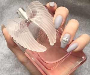 nails, perfume, and angel image