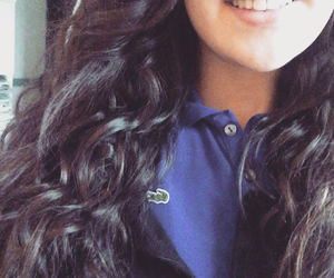 cheveux, lacoste, and sourire image