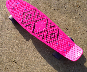 design, pink, and penny board image