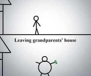 funny, grandparents, and money image