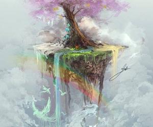 tree and rainbow image