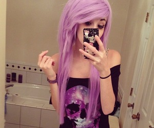 hair, pastel, and purple hair image