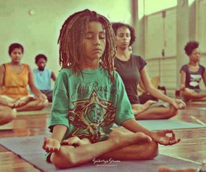 boy, dreads, and meditation image